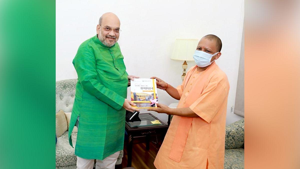 UP CM योगी ने दिल्ली पहुंच कर की गृहमंत्री अमित शाह से मुलाकात