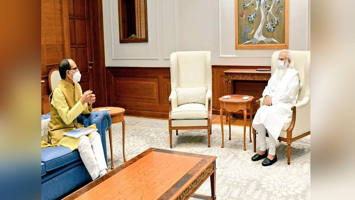 CM शिवराज ने PM मोदी से की भेंट, MP में कोरोना की स्थिति से कराया अवगत