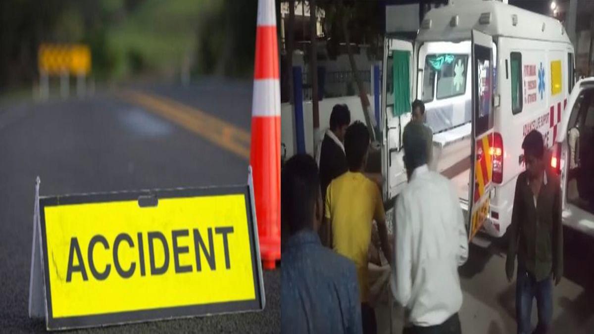 दमोह-जबलपुर स्टेट हाईवे पर हुआ भीषण हादसा, यात्री बस पलटने से 11 लोग घायल