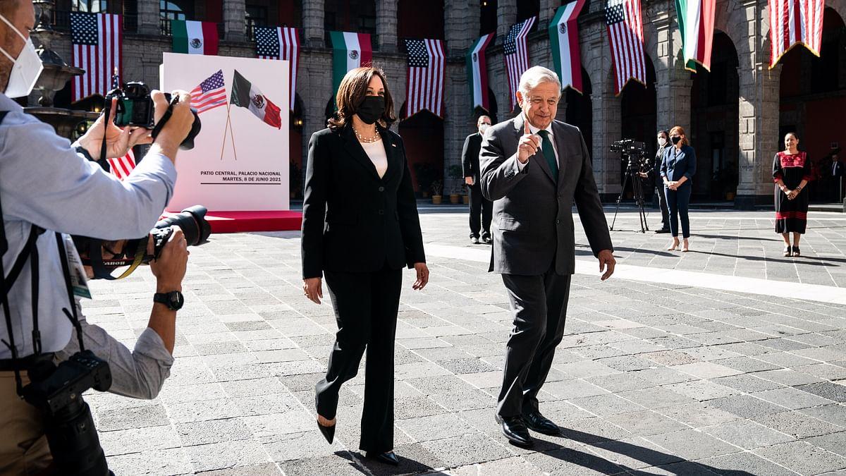 कमला हैरिस ने की मेक्सिको के राष्ट्रपति से प्रवासन संबंधी मुद्दों पर चर्चा