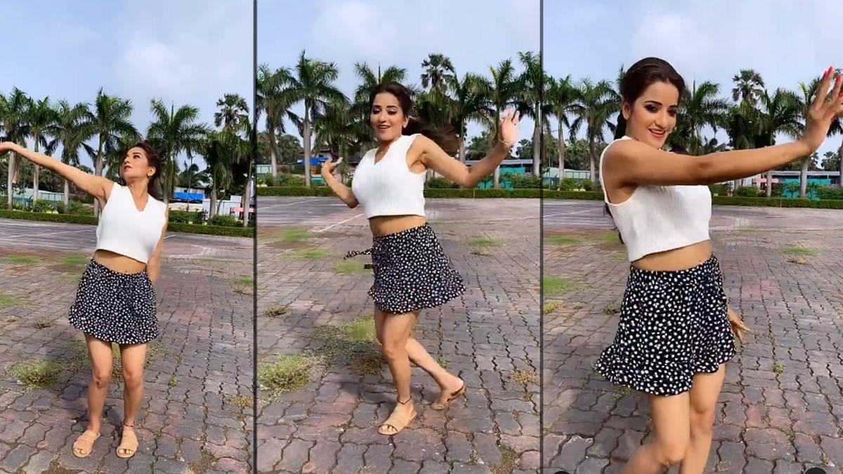 Monalisa ने 'बारिश बन जाना' गाने पर लगाए ठुमके, Video हुआ वायरल