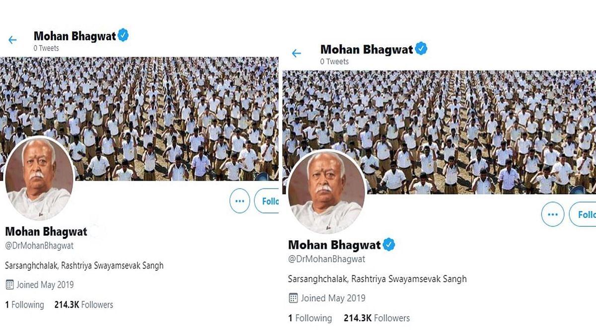 अब RSS प्रमुख भागवत सहित कई नेताओं के Twitter के ब्लू टिक हटाकर वापस लगाया