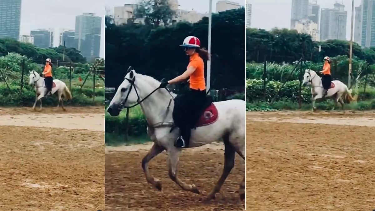 कंगना रनौत ने की जबरदस्त अंदाज में घुड़सवारी, शेयर किया ये मजेदार वीडियो