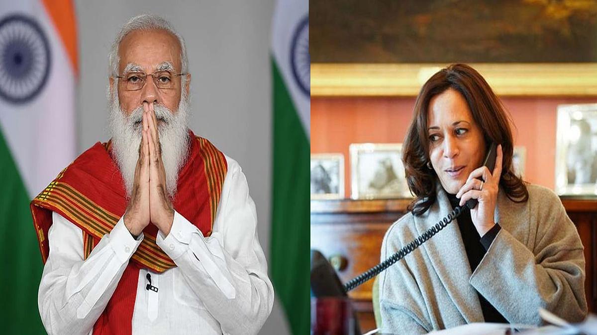 प्रधानमंत्री मोदी और अमेरिकी उप राष्ट्रपति कमला हैरिस के बीच हुई चर्चा