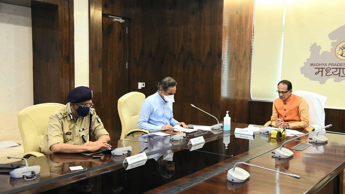 वीसी के माध्यम से CM शिवराज ने की कोविड कोर ग्रुप के साथ समीक्षा बैठक
