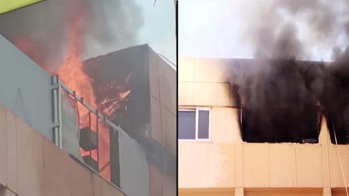 उत्तर प्रदेश के नोएडा में NMRC के दफ्तर में भभकी भीषण आग