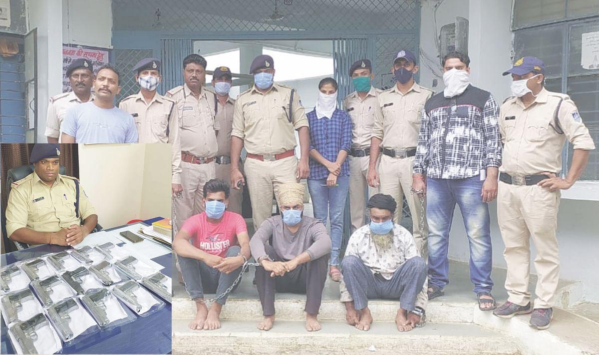 पंजाब के दो, पचौरी के एक युवक को 15 देशी पिस्तौल के साथ पकड़ा