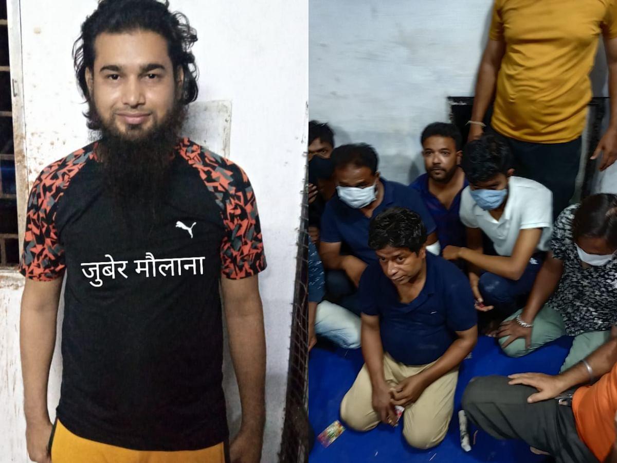 भोपाल: कुख्यात बदमाश के जुएखाने में क्राइम ब्रांच की रेड, 40 जुआरी गिरफ्तार