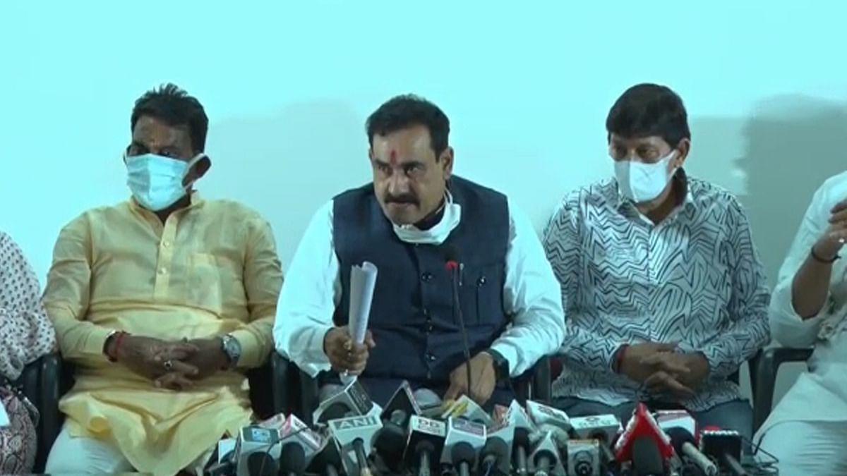 इंदौर: पत्रकार वार्ता में प्रभारी मंत्री Narottam Mishra का कमलनाथ पर हमला