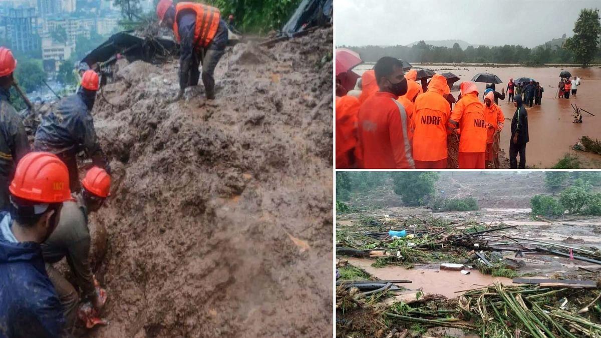 महाराष्ट्र रायगढ़ में भूस्खलन की भारी तबाही- PM मोदी ने की मुआवजे की घोषणा