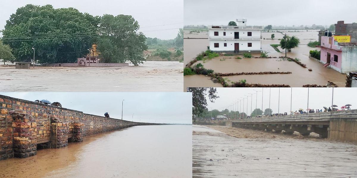 पानी पानी हुआ श्योपुर जिला, नदी-नाले उफान पर, राजस्थान से सम्पर्क कटा