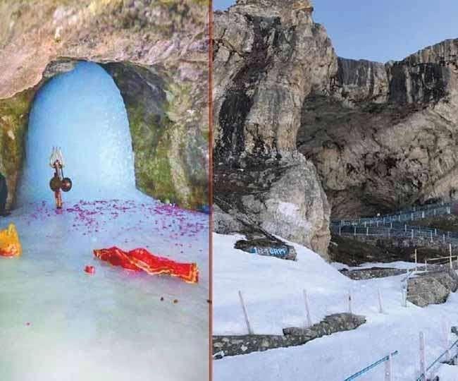 अमरनाथ गुफा के पास बादल फटा