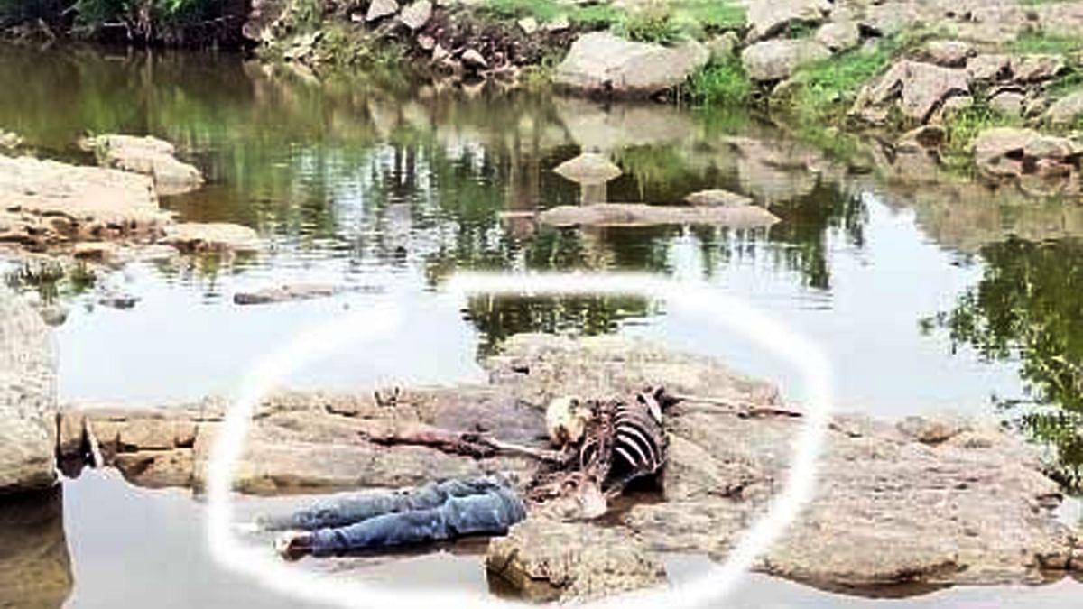 नदी किनारे मिले दो लोगों के कंकाल, मामा-भांजे के रूप में की गई शिनाख्त
