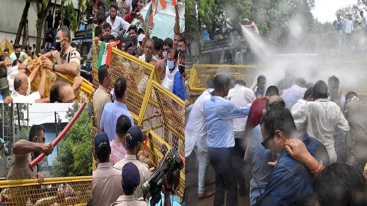 Bhopal: इंडस्ट्रियल एरिया में जमकर बवाल, दिग्गी ने अपने समर्थकों के साथ किया प्रदर्शन