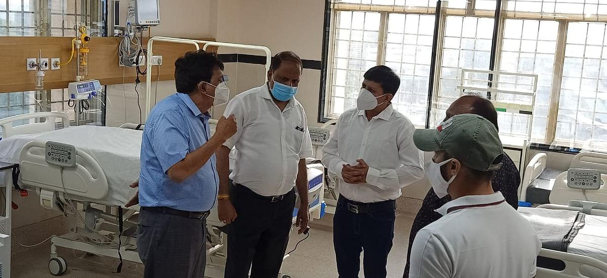 Indore : पीसी सेठी अस्पताल का विधायक विजयवर्गीय ने किया निरिक्षण