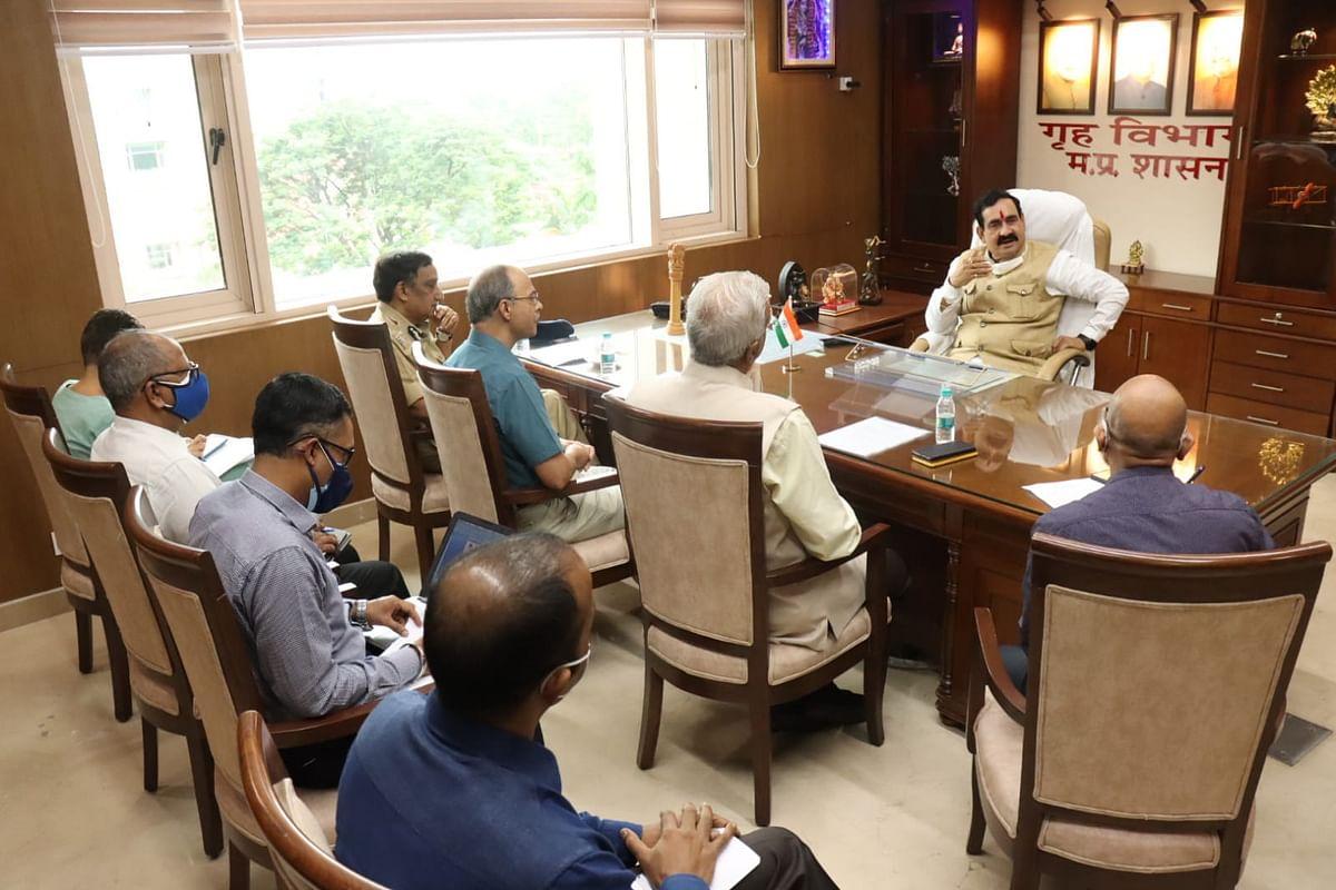 Bhopal : गृह मंत्री ने आपदा प्रबंधन की तैयारियों की समीक्षा की
