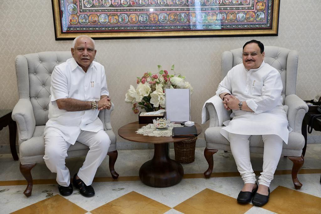 दिल्ली में CM येदियुरप्पा की नड्डा से मुलाकात- इस मुद्दे पर की चर्चा