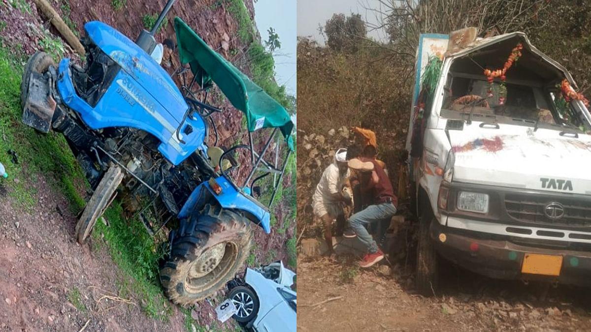 Damoh Accident: ट्रैक्टर से टकराई भाजपा नेताओं की कार, हादसे में 2 की मौत