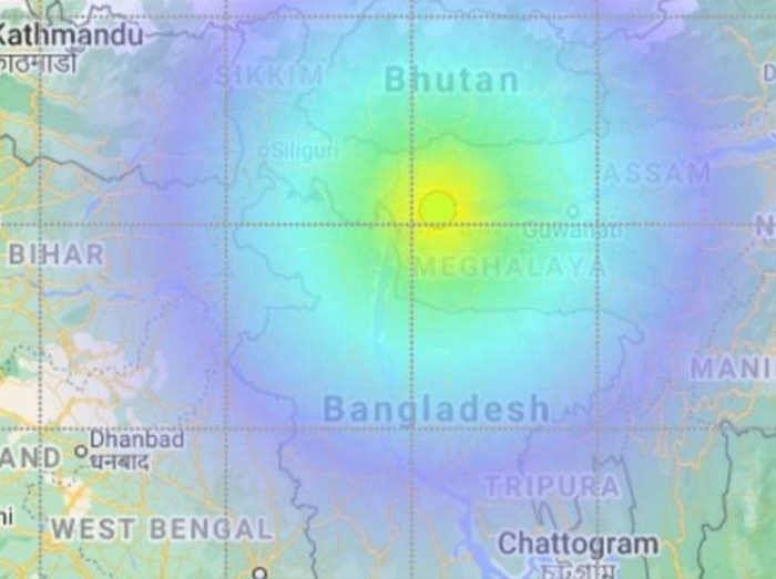 पूर्वोत्तर राज्य मेघालय में महसूस हुआ भूकंप