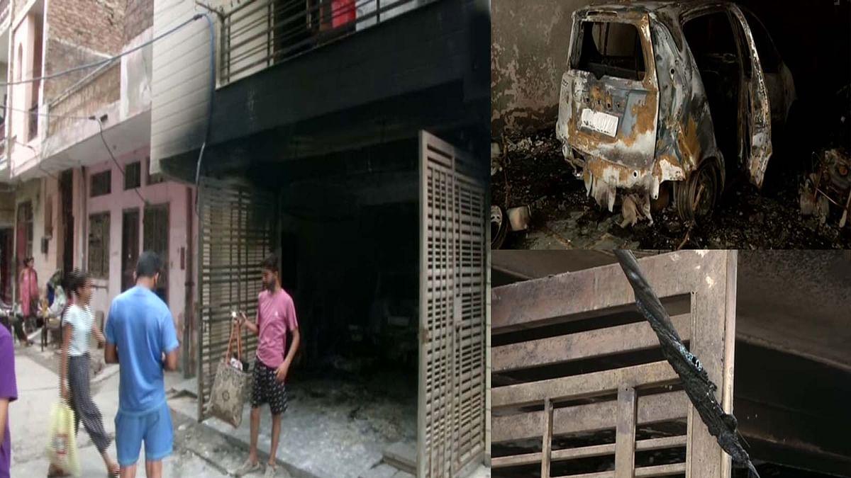 दिल्ली में बुद्ध विहार इलाके के एक घर में आग का तहलका, 3 से 4 लोग घायल
