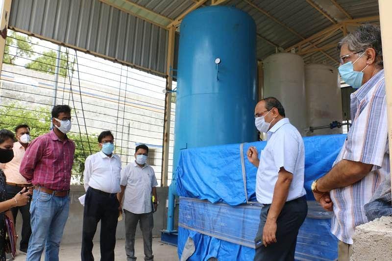 होशंगाबाद में ऑक्सीजन प्लांट पर इंस्टॉलेशन का काम जल्द पूरा करने के निर्देश