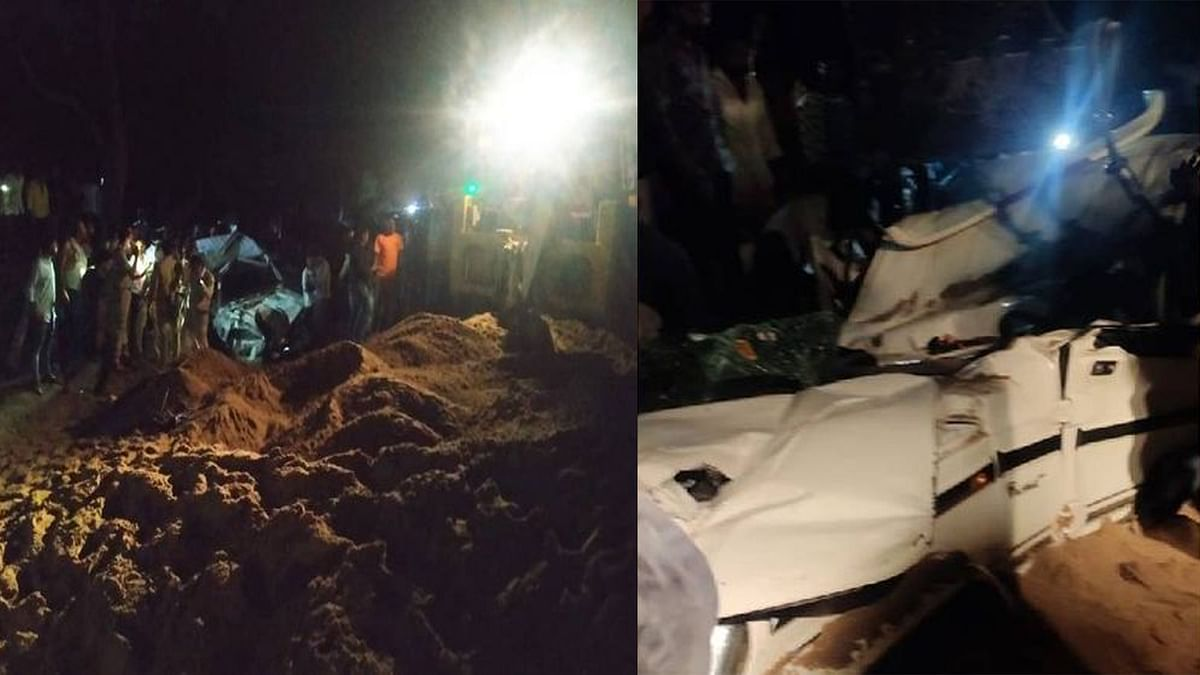 Dewas Accident: बोलेरो पर पलटा रेत से भरा डंपर, हादसे में 3 की दर्दनाक मौत