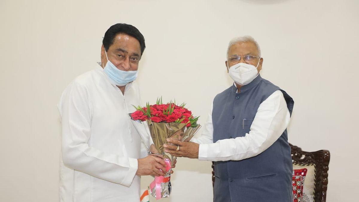 पूर्व मुख्यमंत्री कमलनाथ ने की राज्यपाल से मुलाकात, कई मुद्दों पर हुई चर्चा