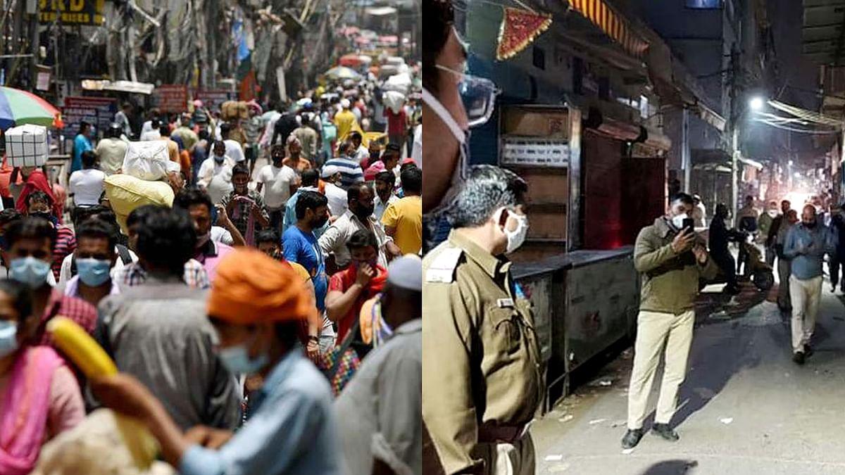 कोरोना प्रोटोकॉल का उल्लंघन करने के चलते बंद हुए दिल्ली के कई बाजार