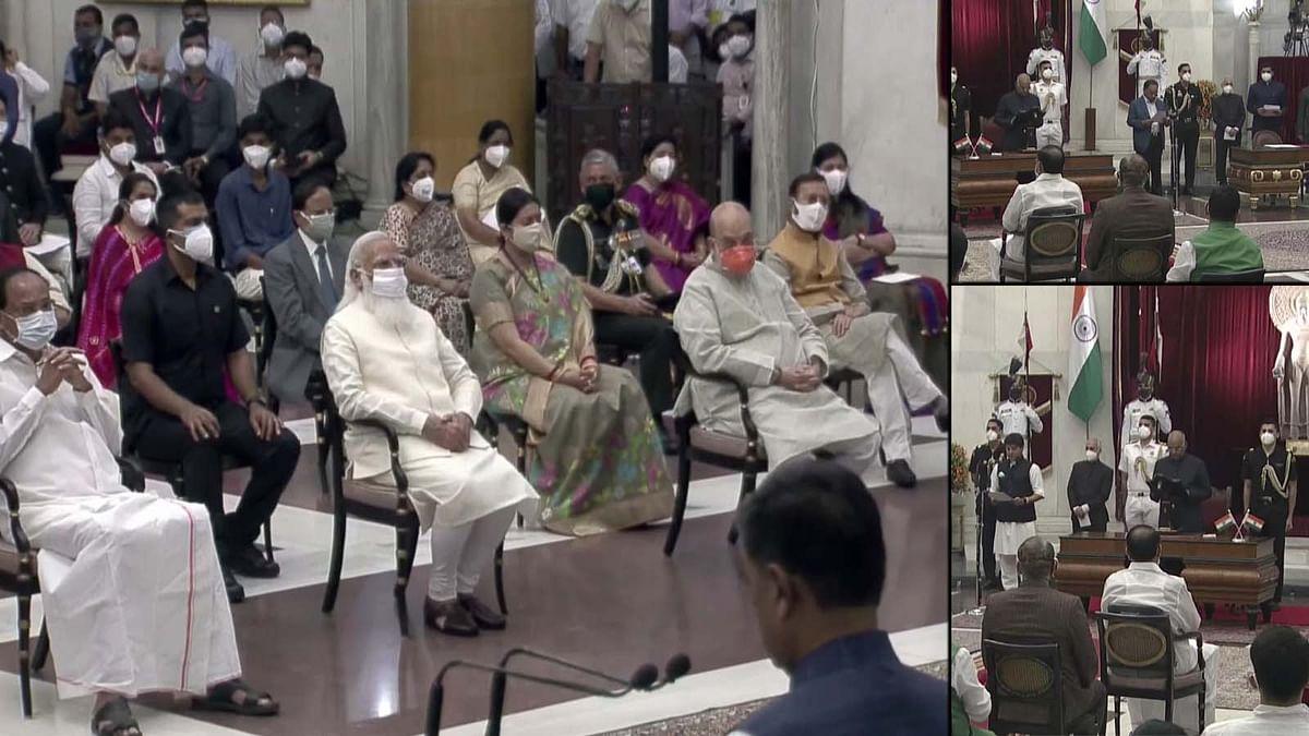 Cabinet Expansion 2021:मोदी की बनी नई टीम, बारी-बारी से मंत्रियों ने ली शपथ