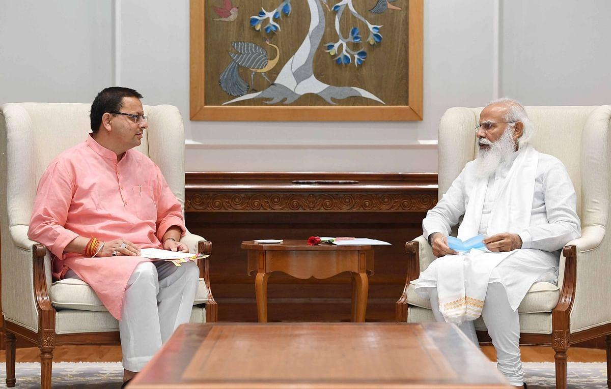 उत्तराखंड के CM पुष्कर सिंह धामी की PM नरेंद्र मोदी से भेंट