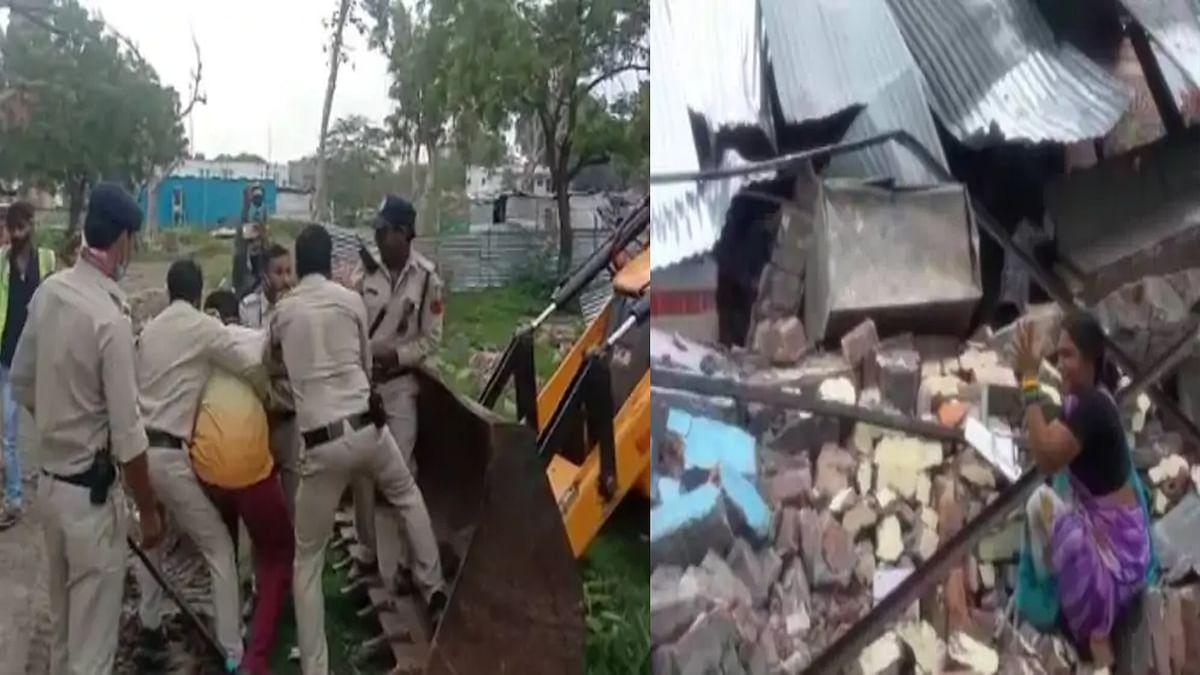 Ujjain: अवैध कब्जा और निर्माण हटाने पहुंची टीम पर पथराव, कई लोग हिरासत में