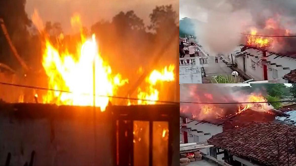 Betul: गैस सिलेंडर लीकेज होने से लगी भीषण आग, लकड़ी का कच्चा घर जलकर खाक