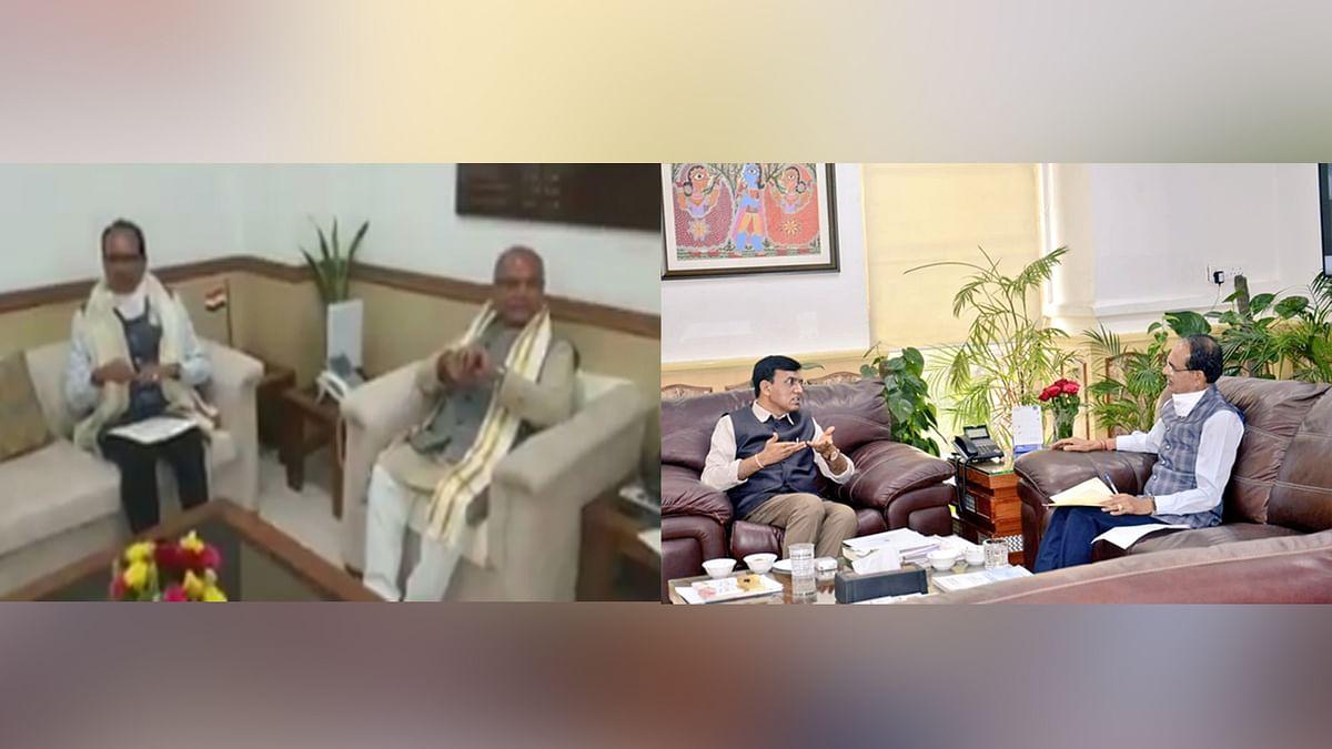 आज CM शिवराज ने दिल्ली में केंद्रीय मंत्री तोमर और स्वास्थ्य मंत्री से की भेंट