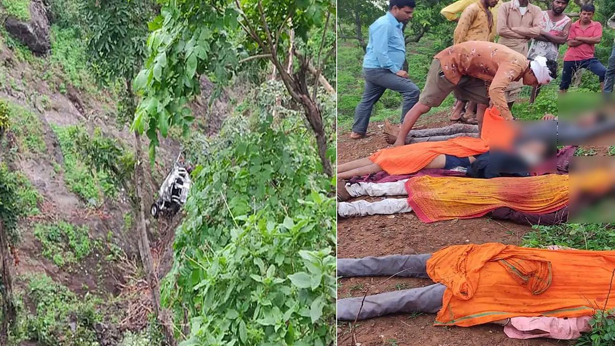 Barwani: दर्शन कर लौट रहे भक्तों की जीप खाई में गिरी, बिखरे पड़े मिले कई शव