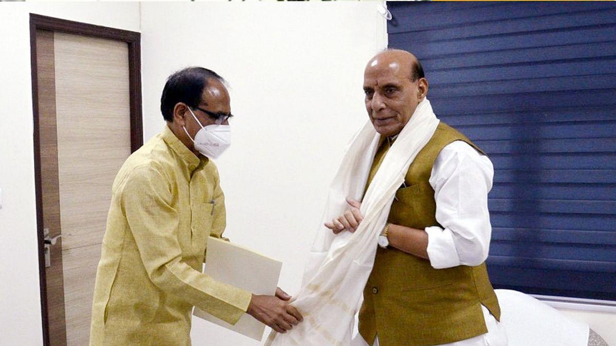 CM चौहान ने रक्षा मंत्री राजनाथ से की भेंट, जबलपुर डिफेंस क्लस्टर पर की चर्चा