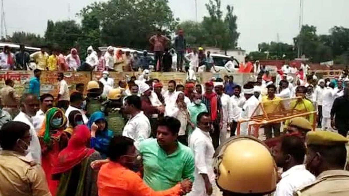 उत्तर प्रदेश के चंदौली में चुनाव के बीच सपा-भाजपा कार्यकर्ताओं में झड़प
