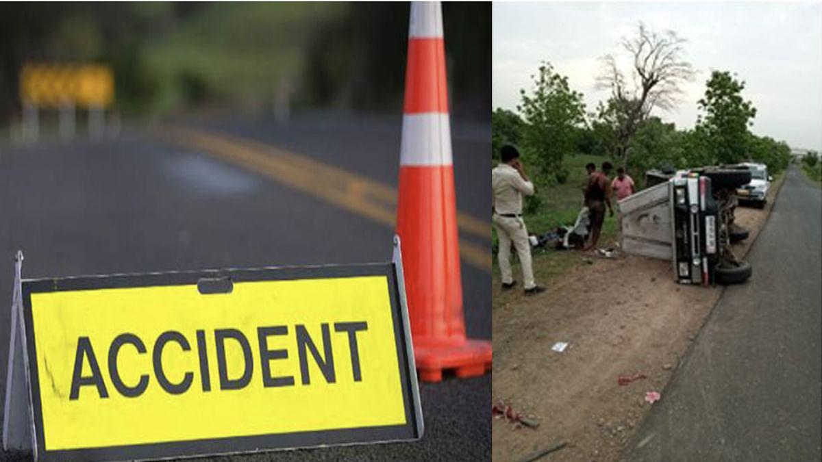 Harda Accident: यात्रियों से भरी तूफान गाड़ी पलटी, हादसे में 12 लोग घायल
