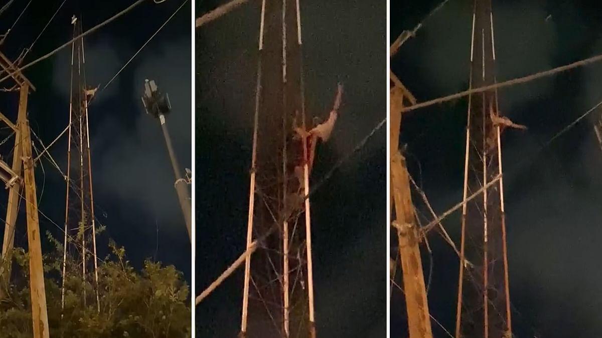 Bhopal: 'आत्महत्या का प्रयास' नशे की हालत में पुलपत्रा के टावर पर चढ़ा युवक