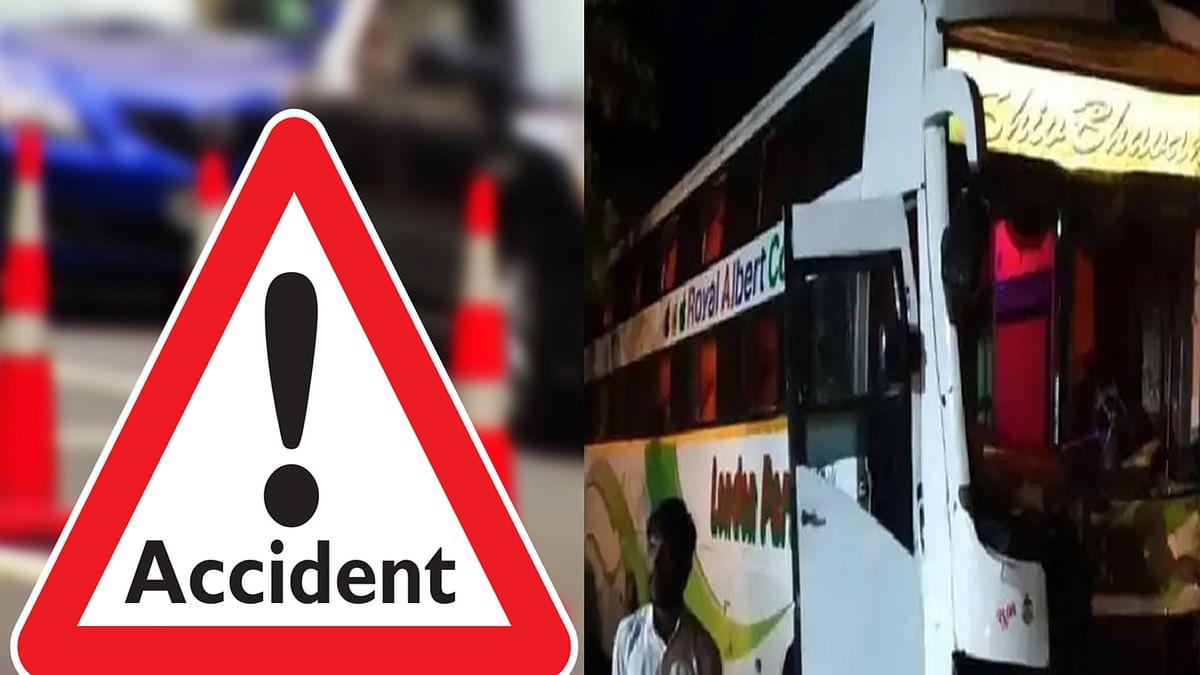 Sagar: ओवरटेक करने में ट्रक से भिड़ी बस, हादसे में कई यात्रियों को आई चोट
