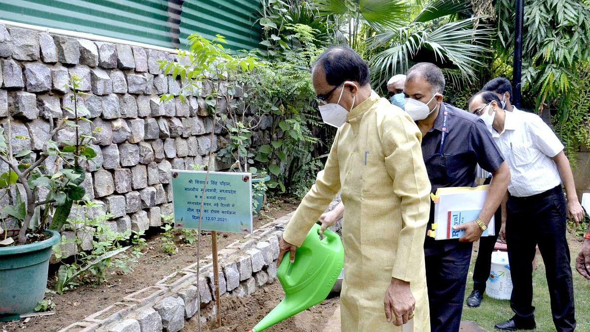 OnePlantADay: सीएम ने आज नई दिल्ली स्थित MP भवन परिसर में लगाया नीम का पौधा