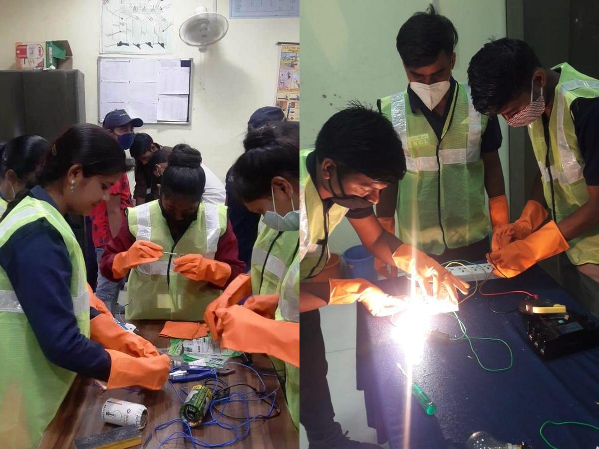 स्थानीय युवाओं को विभिन्न रोजगारपरक ट्रेड में प्रशिक्षित कर रही है एनसीएल