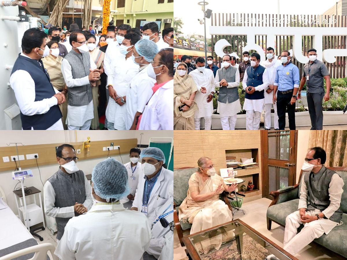 मुख्यमंत्री ने पीसी सेठी अस्पताल का लिया जायजा