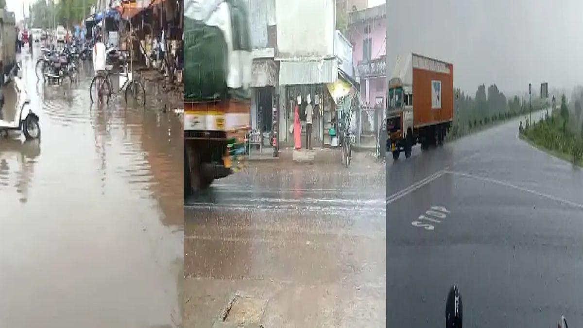 Madhya Pradesh के कुछ हिस्सों में हुई झमाझम बारिश, उफान पर आए नाले