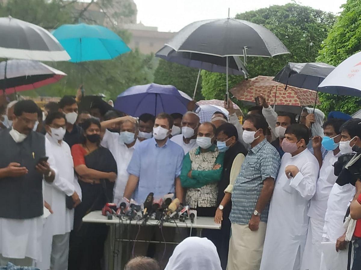 हम संसद को चलने से नहीं रोक रहे, बल्कि अपनी आवाज बुलंद करना चाह रहे: राहुल