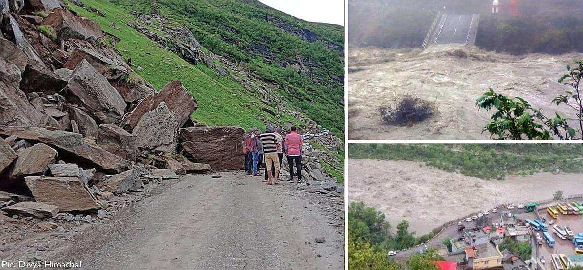 हिमाचल प्रदेश में मानसून साथ लाया तबाही, लाहौल-स्पीति में बादल फटने की घटना