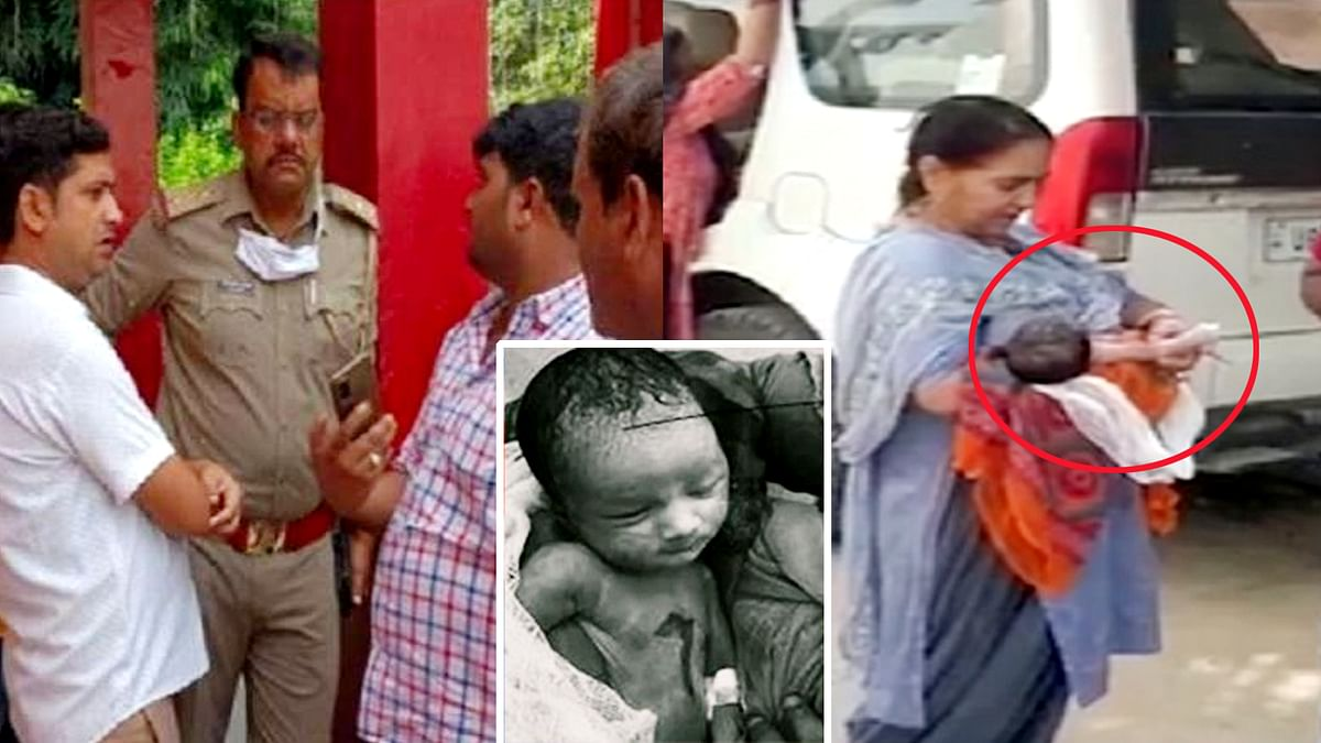 UP : कौशाम्बी जिला अस्पताल में ड्यूटी स्टाफ की लापरवाही से जिंदा जला नवजात