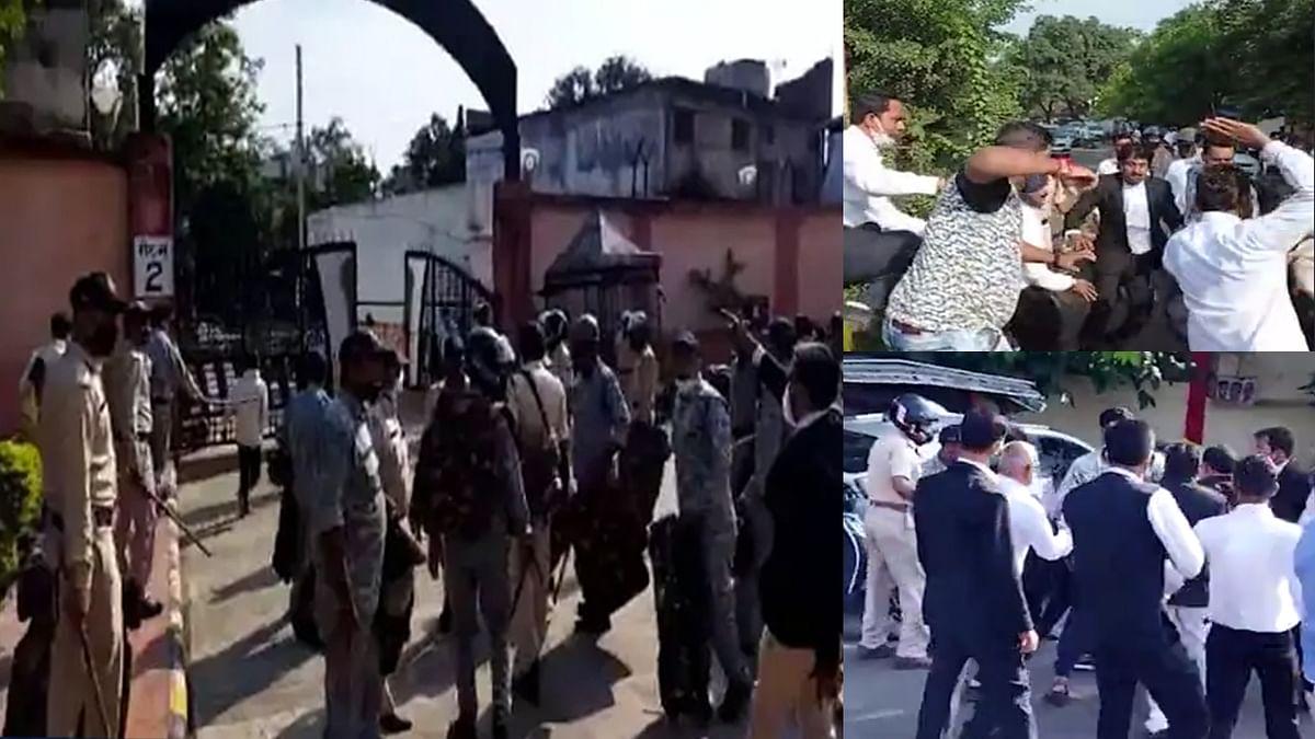 Jabalpur: कुख्यात बदमाश अब्दुल और भतीजे के समर्थकों ने जिला कोर्ट में किया जमकर हंगामा