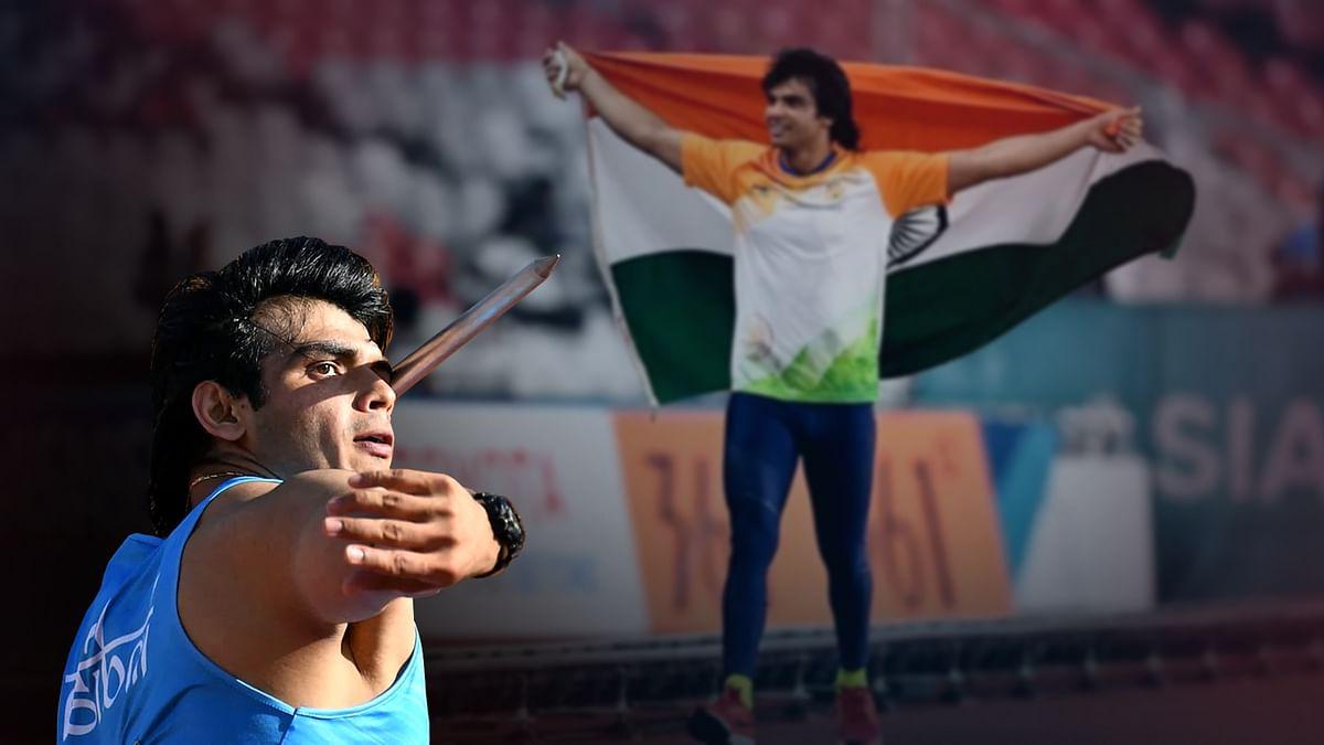 भारत के स्टार एथलीट नीरज चोपड़ा ने भाला फेंक में जीता स्वर्ण पदक