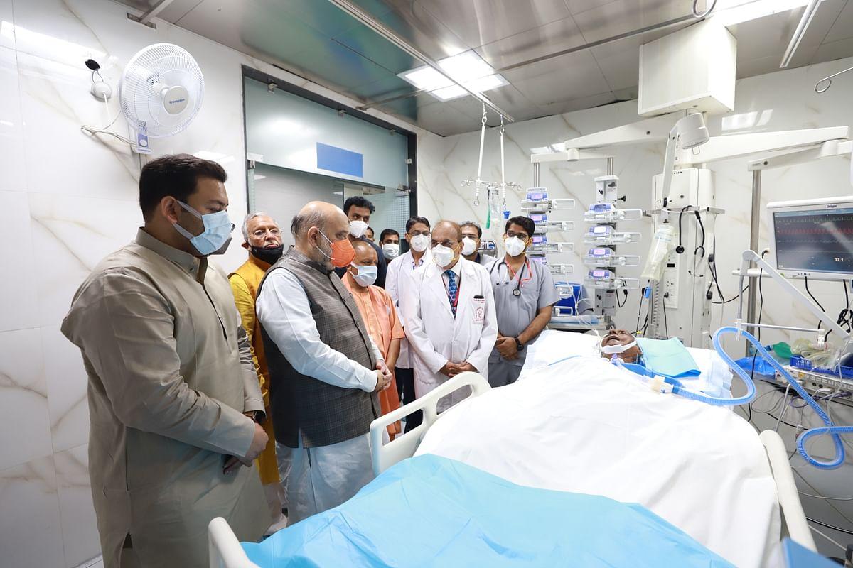 अमित शाह ने SGPGI अस्पताल पहुंचकर पूर्व CM कल्याण सिंह की सेहत का हाल-चाल जाना
