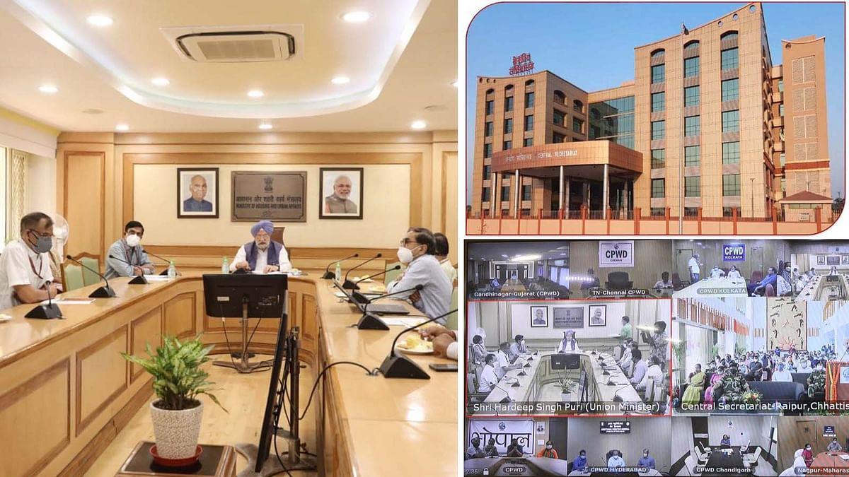 छत्तीसगढ़ के नवा रायपुर में नए केंद्रीय सचिवालय भवन का हरदीप पुरी ने किया उद्घाटन